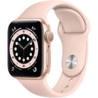 Apple Watch Series 6 GPS 40mm Aluminiumgehäuse Gold Sportarmband Sandrosa
